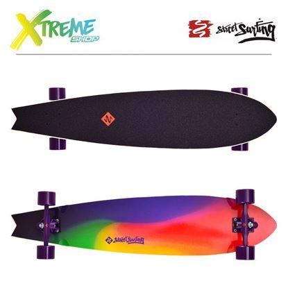 "Obrazek Longboard Street Surfing FISHTAIL 42"" Sunset Blur"