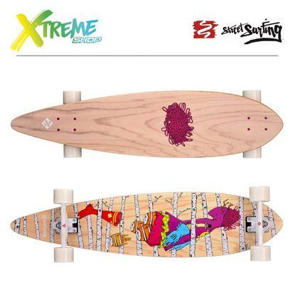 """Obrazek Longboard Street Surfing PINTAIL 40"""" Woods"""