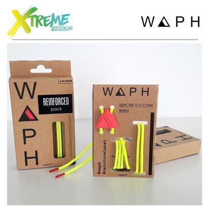 Obrazek Zestaw sznurówek Waph REINFORCED X2 PACK Yellow