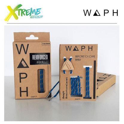 Obrazek Zestaw sznurówek Waph REINFORCED X2 PACK Blue