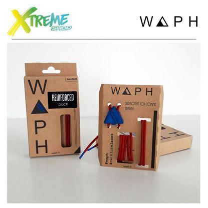 Obrazek Zestaw sznurówek Waph REINFORCED X2 PACK Red