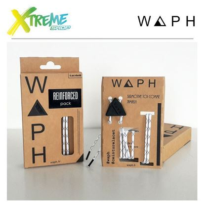 Obrazek Zestaw sznurówek Waph REINFORCED X2 PACK White