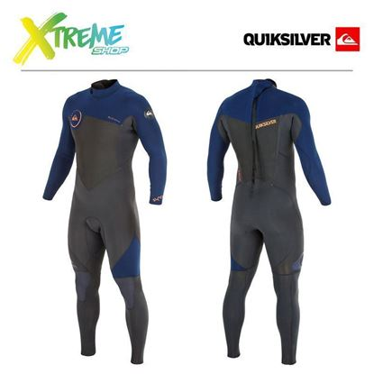 Pianka Quiksilver SYNCRO GBS 3/2 BACK ZIP WETSUIT Graphite/Ink Blue