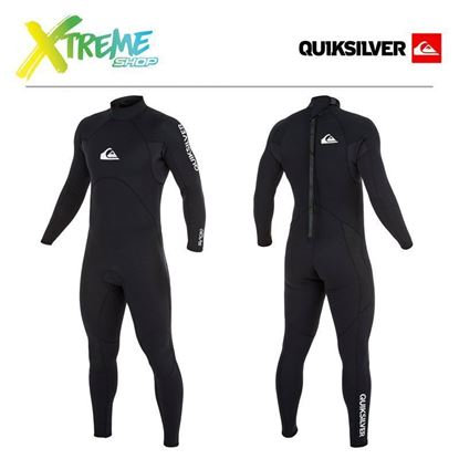 Pianka Quiksilver SYNCRO 3/2 BASE BACK ZIP FULL WETSUIT Black