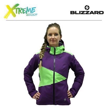 Kurtka narciarska Blizzard PERFORMANCE WOMEN Purple/Lime green