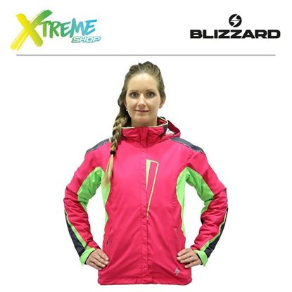 Kurtka narciarska Blizzard ALLROUND WOMEN Anthracite/Grenadine/Lime green