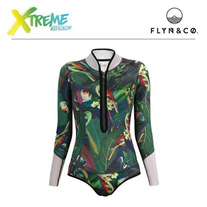 Pianka Flyn Femi Wetsuit Navy Bird Woman 1 mm 1
