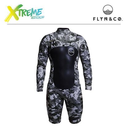 Pianka Flyn Wetsuit Short Camouflage Man 3.2mm 1
