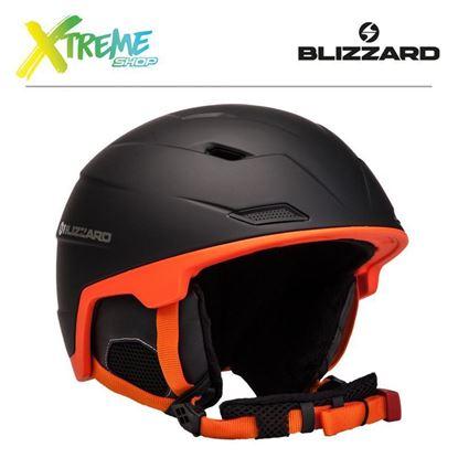 Kask Blizzard DOUBLE SKI HELMET Black/Orange