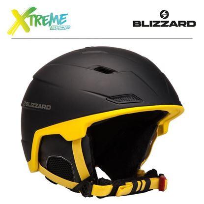 Kask Blizzard DOUBLE SKI HELMET Black/Yellow