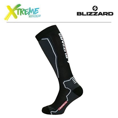 Skarpety Blizzard COMPRESS 85 SKI SOCKS Black/Grey