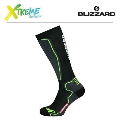 Skarpety Blizzard COMPRESS 85 SKI SOCKS Black/Yellow