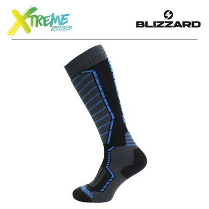Skarpety Blizzard PROFI SKI SOCKS Black/Anthracite/Blue