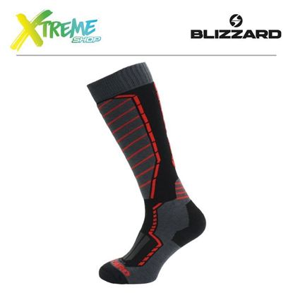 Skarpety Blizzard PROFI SKI SOCKS Black/Anthracite/Red