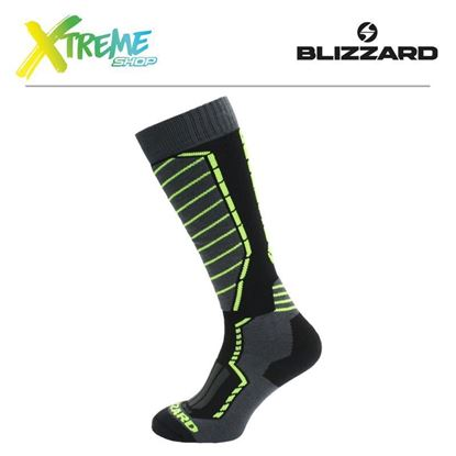 Skarpety Blizzard PROFI SKI SOCKS Black/Anthracite/Yellow