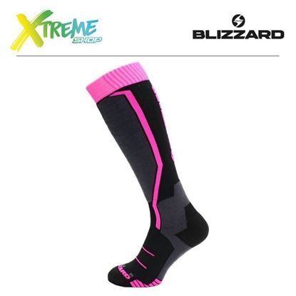 Skarpety Blizzard VIVA ALLROUND SKI SOCKS Black/Anthracite/Magenta