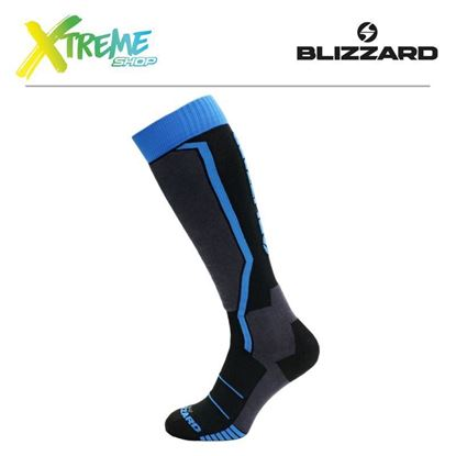 Skarpety Blizzard ALLROUND SKI SOCKS JUNIOR Black/Anthracite/Blue