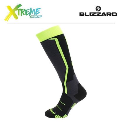 Skarpety Blizzard ALLROUND SKI SOCKS JUNIOR Black/Anthracite/Signal Yellow