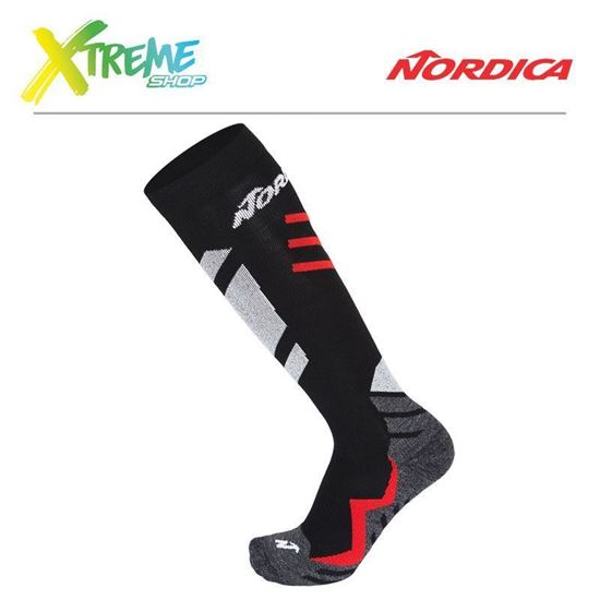 Skarpety Nordica SPEEDMACHINE SOCKS Black/Red