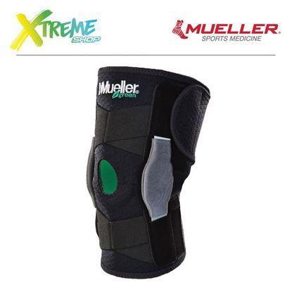 "Regulowany stabilizator kolana z zawiasami Mueller ""GREEN"" 86455 1"