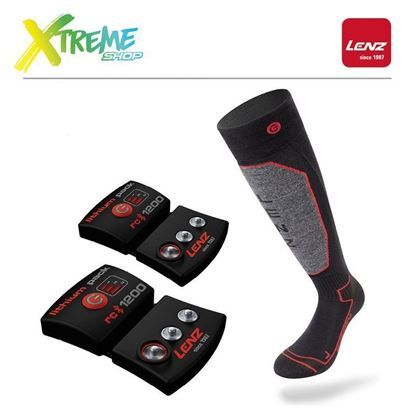 Skarpety Lenz SET OF HEAT SOCKS 1.0 + LITHIUM PACK 1200
