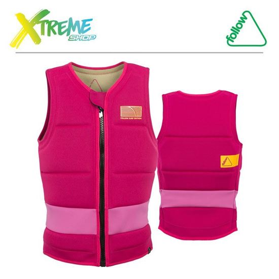 Kamizelka Follow SURF EDITION PRO LADIES JACKET Pink 2018 1