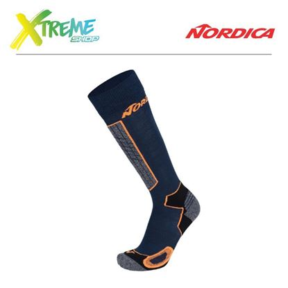 Skarpety Nordica HIGH PERFORMANCE MAN SOCKS Navy/Neon orange