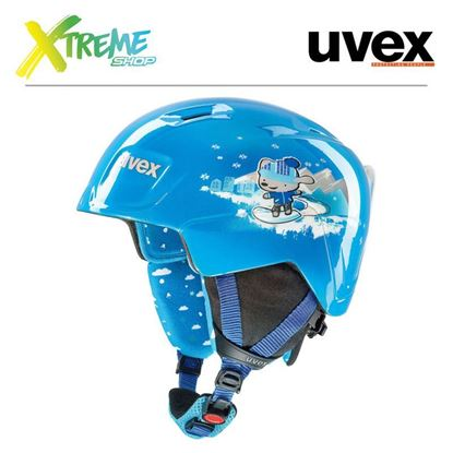 Kask UVEX MANIC Blue Snow Dog
