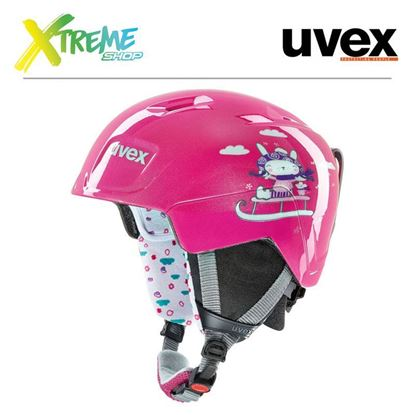 Kask UVEX MANIC Pink Snow Bunny