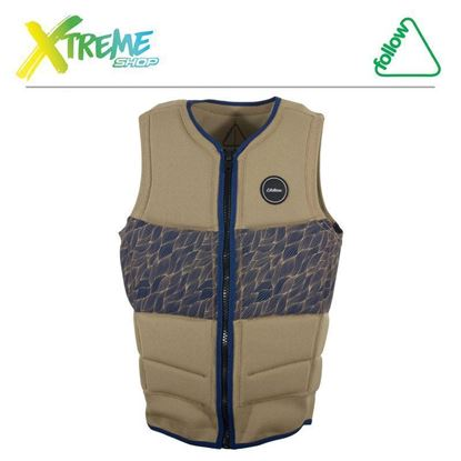 Kamizelka wakeboardowa Follow MENS BASIC VEST CE IMPACT Tan 2016