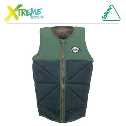 Kamizelka wakeboardowa Follow BEACON PRO IMPACT VEST Green 2017 1