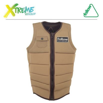 Kamizelka wakeboardowa Follow MITCH PRO IMPACT VEST Tan 2017 1