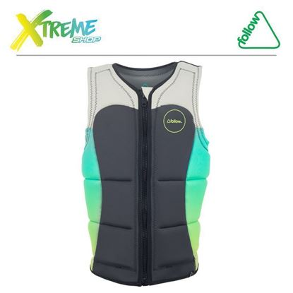 Kamizelka wakeboardowa Follow ATLANTIS PRO IMPACT VEST Teal/Charcoal 2017 1