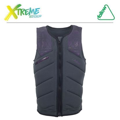 Kamizelka wakeboardowa Follow LACE PRO IMPACT VEST Charcoal/Plum 2017