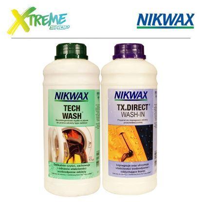 Zestaw pielęgnacyjny do odzieży wodoodpornej Nikwax TWIN PACK: TECH WASH / TX. DIRECT WASH-IN - 2 x 1000ml