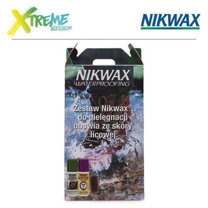 Zestaw do pielęgnacji obuwia ze skóry licowej Nikwax CARE KIT FOR LEATHER FOOTWEAR