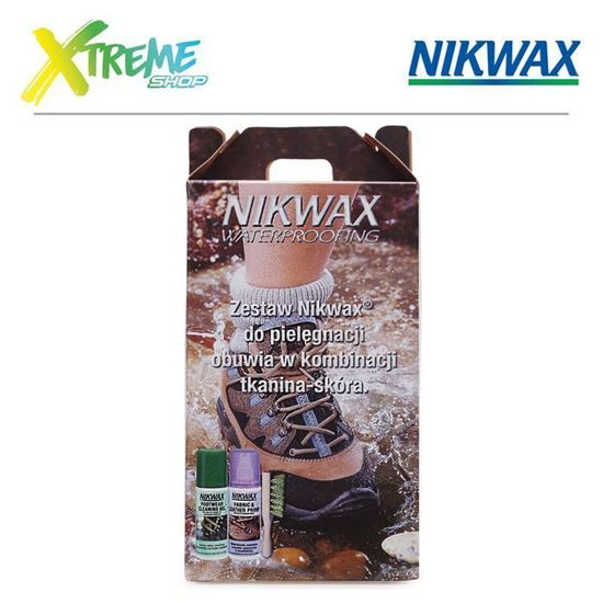 Zestaw do pielęgnacji obuwia Nikwax CARE KIT FOR FABRIC & LEATHER FOOTWEAR