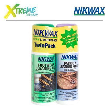 Zestaw pielęgnacyjny do obuwia z tkaniny i skóry Nikwax FOOTWEAR CLEANING GEL / FABRIC & LEATHER PROOF