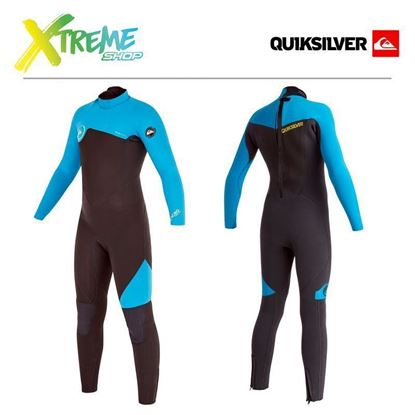 Pianka Quiksilver BOY'S SYNCRO 3/2 BACK ZIP FULL WETSUIT Graphite/Cyan