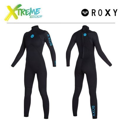 Pianka Roxy SYNCRO 3/2 BASE BACK ZIP WETSUIT Black