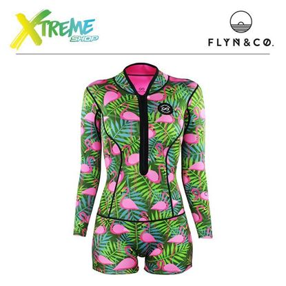 Pianka Flyn Colorshake Femi Wetsuit Flamingo Jungle Woman 1 mm 1