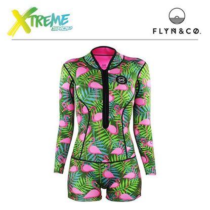 Pianka Flyn Colorshake Femi Wetsuit Flamingo Jungle Woman 1 mm 1