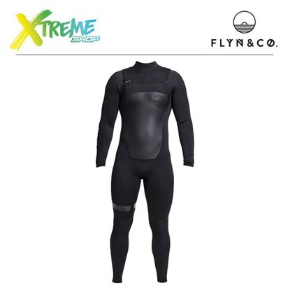 Pianka Flyn Wetsuit Long All Black Man 4.3 mm 1
