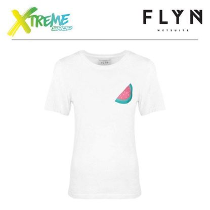 T-Shirt Flyn WATERMELON WHITE WOMAN 1