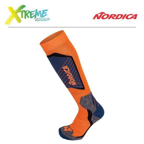 Skarpety Nordica TECH JUNIOR Orange/Dark Blue