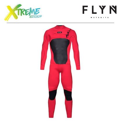 Pianka Flyn WETSUIT FRONT-ZIP LONG 3/2 Red 1