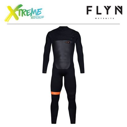 Pianka Flyn WETSUIT FRONT-ZIP LONG 5/4 Black 1