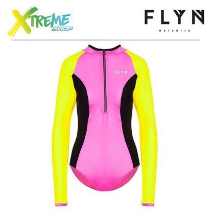 Strój kąpielowy Flyn ZIP-FRONT SWIMWEAR Pink/Yellow 1