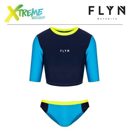 Strój kąpielowy Flyn TWO-PIECE SWIMWEAR Blue/Yellow 1