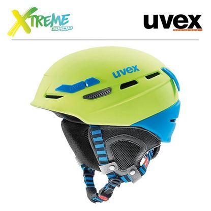 Kask UVEX P.8000 TOUR Lime-Blue Mat